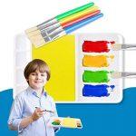 TIMESETL Lot pinceau à peinture y compris 8pcs brosse à peinture et 4pcs tasses de peinture étanche pour les enfants de la marque TIMESETL image 1 produit