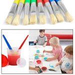 TIMESETL Lot pinceau à peinture y compris 8pcs brosse à peinture et 4pcs tasses de peinture étanche pour les enfants de la marque TIMESETL image 2 produit