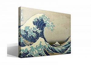 Toile sur châssis reproduction de l'œuvre La Grande Vague de Kanagawa de Katsushika Hokusai–Châssisen bois de 3 x 3cmImage haute résolutionImpression sur toile 100% coton Reproduction numérique d'œuvres d'artTableau de qualité supérieureFabriquée image 0 produit