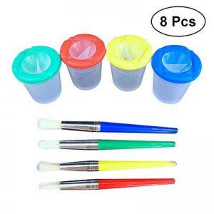 TOYMYTOY Lot pinceau à peinture y compris 4pcs brosse à peinture et 4pcs tasses de peinture étanche pour les enfants de la marque TOYMYTOY image 0 produit