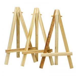 TRIXES Mini Chevalets en Bois 6 Pouces Projets Artistiques Support Photo Nom Menu de la marque TRIXES image 0 produit