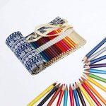 Trousses Crayons Rouleau, KAKOO Sac à Crayon enroulable Wrap en Toile Motif Rétro Pour Crayon de Couleur,72 Trous de la marque KAKOO image 2 produit