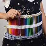 Trousses Crayons Rouleau, KAKOO Sac à Crayon enroulable Wrap en Toile Motif Rétro Pour Crayon de Couleur,72 Trous de la marque KAKOO image 3 produit