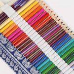Trousses Crayons Rouleau, KAKOO Sac à Crayon enroulable Wrap en Toile Motif Rétro Pour Crayon de Couleur,72 Trous de la marque KAKOO image 4 produit