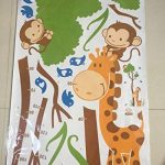ufengke® Oiseaux Arbre Vert Singe Mignon de Girafe Toise Stickers Muraux, La Chambre des Enfants Pépinière Autocollants Amovibles de la marque ufengke décor image 3 produit