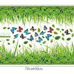 ufengke® Vert Herbe Fleurs Papillons Stickers Muraux, Salle De Séjour Chambre À Coucher Baseboard Autocollants Amovibles de la marque ufengke décor image 3 produit