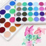 ULTNICE 36PCS Kit de peinture pour aquarelle Fondamentaux Ensemble d'aquarelle Set avec 1 pinceau de la marque ULTNICE image 1 produit
