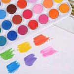 ULTNICE 36PCS Kit de peinture pour aquarelle Fondamentaux Ensemble d'aquarelle Set avec 1 pinceau de la marque ULTNICE image 2 produit