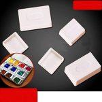 ULTNICE 50pcs aquarelles vides aquarelle peinture aquarelle demi casseroles en plastique casseroles pour la peinture de la marque ULTNICE image 4 produit