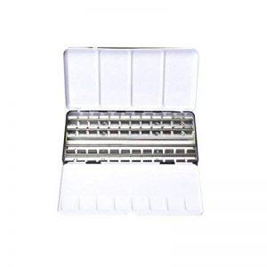 ULTNICE Boîte de boîte en métal de boîte de peinture d'aquarelle de palette vide avec l'ensemble aquarelle de voyage de gird 48 (noir) de la marque ULTNICE image 0 produit