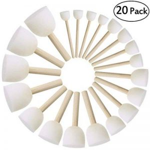 ULTNICE Brosse à éponges rondes Ensemble Brosses pour enfants Outils de peinture de bricolage Paquet de 20 de la marque ULTNICE image 0 produit