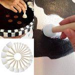 ULTNICE Brosse à éponges rondes Ensemble Brosses pour enfants Outils de peinture de bricolage Paquet de 20 de la marque ULTNICE image 1 produit