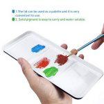 ULTNICE Peinture Aquarelle Palette Boîte en Métal étain avec Pinceau (18 couleurs) de la marque ULTNICE image 1 produit