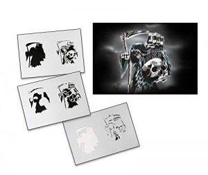 UMR-Design AS-118 skull Pochoir pour aérographe Step by Step Size M de la marque UMR-Design image 0 produit