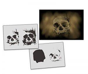 UMR-Design AS-312 Skull Pochoir pour aérographe Step by Step Size M de la marque UMR-Design image 0 produit