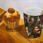 Un thé avec Rembrandt, nature morte, Peinture à l'huile originale, Anne Zamo de la marque Anne Zamo Art image 1 produit