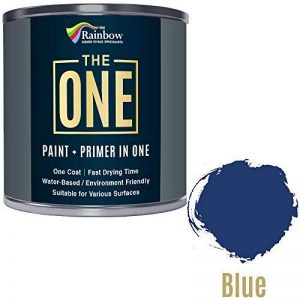 Une Peinture, un manteau, Multi Surface Peinture pour bois, métal, plastique, intérieur, extérieur, Bleu, mat, 1litre de la marque THE ONE image 0 produit