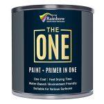 Une Peinture, un manteau, Multi Surface Peinture pour bois, métal, plastique, intérieur, extérieur, gris, brillant, 250ml de la marque The One image 3 produit