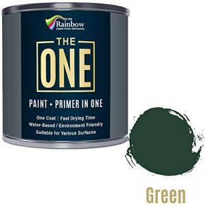 Une Peinture, un manteau, Multi Surface Peinture pour bois, métal, plastique, intérieur, extérieur, Vert, brillant, 1litre de la marque The One image 0 produit