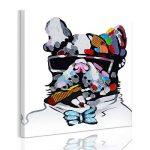 UQ Impression sur toile 1 partie Tableau Poster Grand Format 50x50 Chien cool Prêt à accrocher de la marque UNIQUEBELLA image 1 produit
