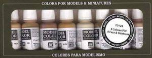 Vallejo Coffret de 8pots de peinture acrylique pour modélisme Couleurs assorties pour différentes teintes de peaux de la marque Vallejo image 0 produit