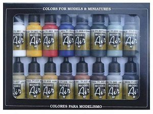 Vallejo Model Air Set de couleurs de peinture acrylique pour air brush – Couleurs assorties (Lot de 16) de la marque Vallejo image 0 produit