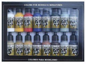 Vallejo Model Air Set de couleurs de peinture acrylique pour air brush–Couleurs assorties (Lot de 16) de la marque Vallejo image 0 produit