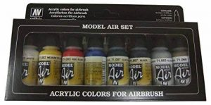Vallejo Model Air Set de couleurs de peinture basic pour air brush – Couleurs assorties (Lot de 8) de la marque Vallejo image 0 produit