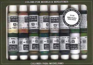 Vallejo val899Peinture Model Color WWII Alliés de peinture acrylique–couleurs assorties (Lot de 16) de la marque Vallejo image 0 produit