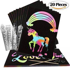 Vamei 20pcs arc-en-papier avec Scratch 4pcs mignon règle Bookmark métal pour enfants Art Artisanat Outil bricolage de la marque VAMEI image 0 produit