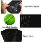 Vamei 20pcs arc-en-papier avec Scratch 4pcs mignon règle Bookmark métal pour enfants Art Artisanat Outil bricolage de la marque VAMEI image 2 produit