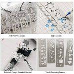 Vamei 20pcs arc-en-papier avec Scratch 4pcs mignon règle Bookmark métal pour enfants Art Artisanat Outil bricolage de la marque VAMEI image 3 produit