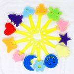 Vamei 30 pcs Enfants Éponge Peinture Pinceaux Outils de Dessin pour Enfants Peinture Précoce DIY Arts Artisanat de la marque VAMEI image 5 produit