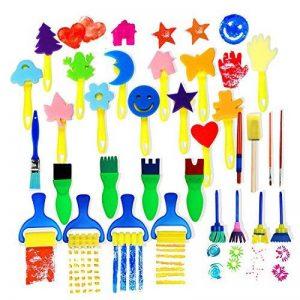 Vamei 30 pcs Enfants Éponge Peinture Pinceaux Outils de Dessin pour Enfants Peinture Précoce DIY Arts Artisanat de la marque VAMEI image 0 produit