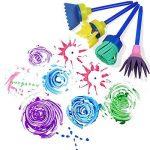 Vamei 30 pcs Enfants Éponge Peinture Pinceaux Outils de Dessin pour Enfants Peinture Précoce DIY Arts Artisanat de la marque VAMEI image 2 produit
