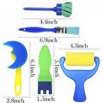 Vamei 30 pcs Enfants Éponge Peinture Pinceaux Outils de Dessin pour Enfants Peinture Précoce DIY Arts Artisanat de la marque VAMEI image 4 produit