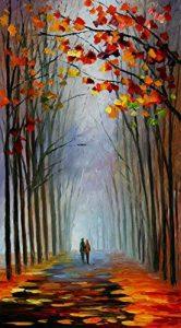 Van Eyck the Way Home coloré Paysage couteau à palette Peinture à l'huile des Impressions sur toile abstraite Art mural Photo pour la décoration de la maison, Tissu, scenery2, 40cm x 50cm de la marque Van Eyck image 0 produit