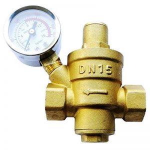 """Vanne de réduction de pression réglable, régulateur de pression d'eau de 15 mm avec barre de pression / Psi (DN15 1/2"""") de la marque Sxstar image 0 produit"""