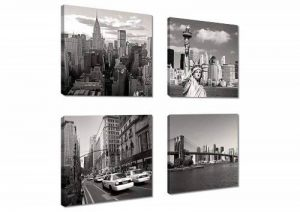 Visario Image sur toile New York 4x20 x 20 cm Modèle N° XXL 6901 art Tableaux pour la mur, encadrés, prêts à poser, tout les images sur châssis géant bois véritable. de la marque Visario image 0 produit
