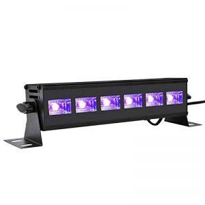 Viugreum® UV LED Bar A BAS PRIX, 18W 6LEDs Barre Jeux de Lumière LED UV Blacklight, Lampe Ultra-Violet Eclairage Puissant pour Affiches Maquillage Peinture Corporelle Fluo Deco Effect Soirée Party Club Bar de la marque Viugreum image 0 produit