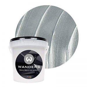 Wanders24 Effet métal (1 litre, Argent) peinture à effet, peinture murale, mur métallisé, peinture murale pailletée, peinture avec effet, peinture mur, peinture murale métallisée, lavable, effet métal de la marque Inconnu image 0 produit
