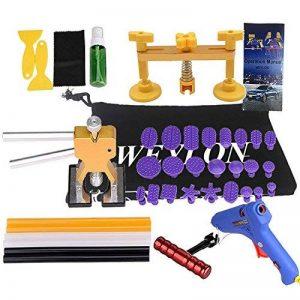 Weylon DIY Pops Damage Repair Dent & Ding Car Auto Panel Carrosserie Puller Kit d'outils PDR Paintless Dent Lifter Removal de la marque Weylon image 0 produit
