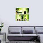 Wieco Art Art Contemporain Zen Impression toile encadrée Art Mural sur toile 4panneaux en bambou pour Home Decor Parfait Décoration Murale pour Chambre Salon Bureau uk-ah4043 de la marque Wieco Art image 2 produit