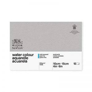 WINSOR & NEWTON Classic Aquarelle Bloc Colle 1 Côté 15 Feuilles Carte Postale 10 x 15 cm de la marque Winsor & Newton image 0 produit