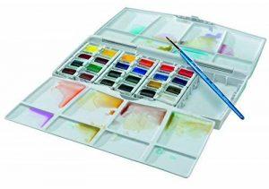 Winsor & Newton Cotman Boîte d'aquarelle Peinture fine avec 24 1/2 Godets/Pinceau de la marque Winsor & Newton image 0 produit