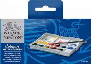 Winsor & Newton Cotman Boîte de Peinture Aquarelle en Plastique de la marque Winsor & Newton image 0 produit