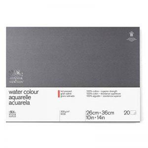 WINSOR & NEWTON Professionnel Papier Aquarelle Bloc 300g/m² grain satiné 25,4 x 35,6 cm de la marque Winsor & Newton image 0 produit
