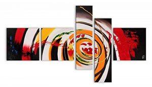 World Art TWAX011CX1 Peinture Abstrait tableau modern peint à la main sur toile avec Châssis Bois Multicolore 90 x 160 x 3 cm de la marque Arte Dal Mondo image 0 produit