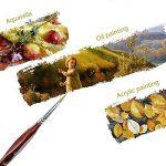 Wowfeu Lot de 9pcs Pinceau de détail Ensemble Miniature Pinceaux pour Aquarelle et Peintures Art Acrylique de la marque Wowfeu image 1 produit
