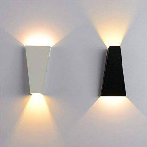 YCRD Led Mur Lampe Double Tête Fer Art Salon Couloir Mur Lumière 10 W Chaud Blanc Lumière 90 V-260 V,White de la marque YCRD image 0 produit